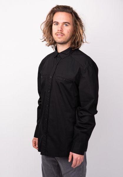 TITUS Hemden langarm Urs black vorderansicht 0411784