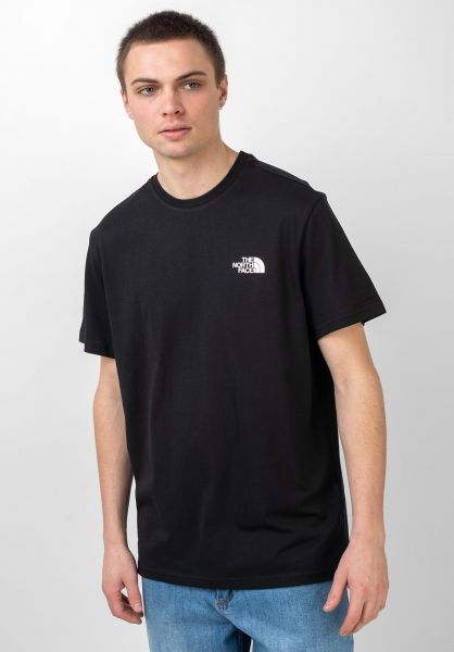 The North Face T-Shirts Simple Dom tnfblack vorderansicht 0321496