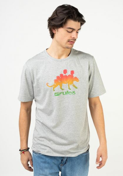 Rules T-Shirts Panther heathergrey vorderansicht 0322422
