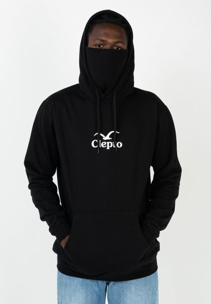 Cleptomanicx Hoodies CI Mask black vorderansicht 0446109