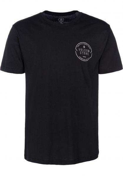 Volcom T-Shirts Chop Around black vorderansicht 0399837