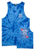 Loser-Machine Tank-Tops x PBR Condor & Ribbon Tie Dye royal Vorderansicht