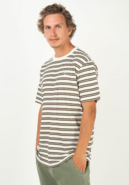 TITUS T-Shirts Borislaw green-striped vorderansicht 0320885