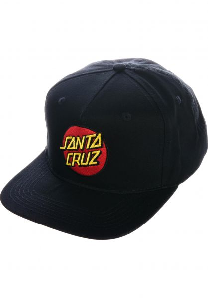 Santa-Cruz Caps Classic Dot black vorderansicht 0056026
