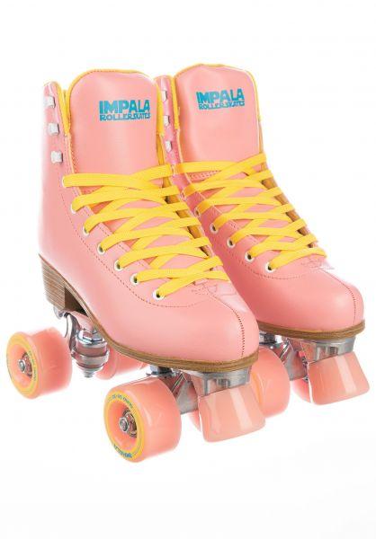 Impala Alle Schuhe Quad Rollschuhe pink-yellow vorderansicht 0292000