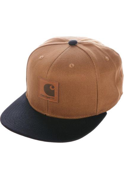 Carhartt WIP Caps Logo Cap Bi-Colored hamiltonbrown-black vorderansicht 0565948