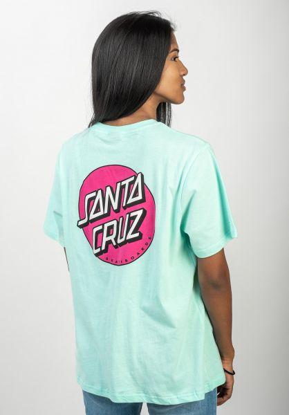Santa-Cruz T-Shirts Classic Dot bubblegumblue vorderansicht 0397010