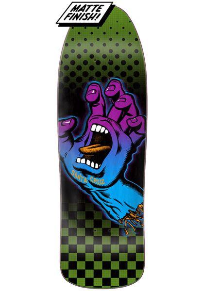 Santa-Cruz Skateboard Decks Aura Hand Preissue green vorderansicht 0261489