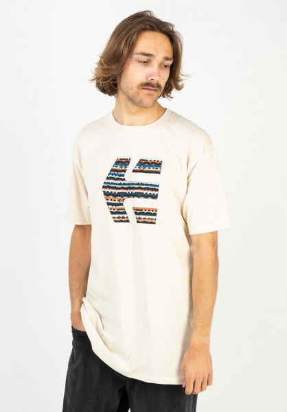 etnies T-Shirts Icon Print natural vorderansicht 0323517