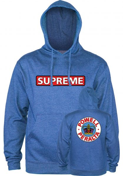 Powell-Peralta Hoodies Supreme Medium Weight royal-heather vorderansicht 0443976