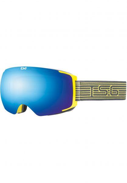 TSG Snowboard-Brille Goggle Two pole-blue chrome Vorderansicht 0340124