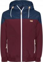 iriedaily-Winterjacken-Insulaner-Jacket-maroon-Vorderansicht