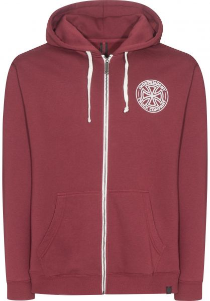 Independent Zip-Hoodies I.T.C. oxblood vorderansicht 0454516