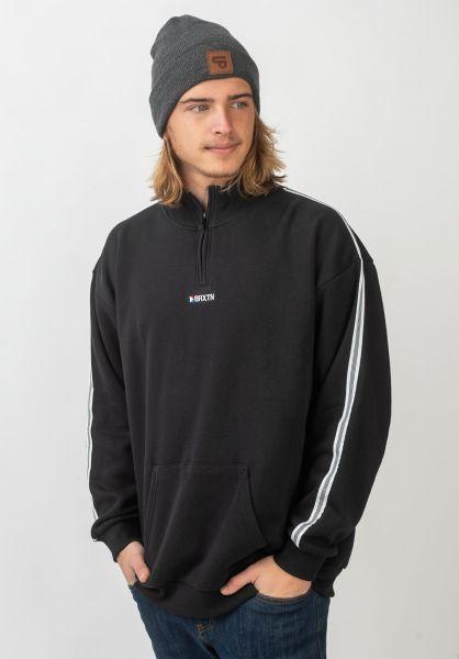 Brixton Sweatshirts und Pullover Stowell Half-Zip black vorderansicht 0422799