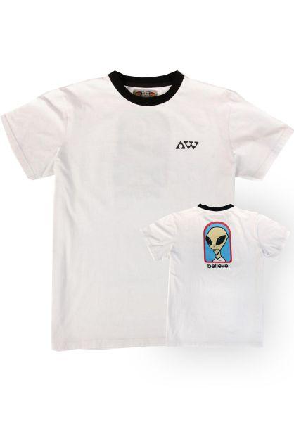 Alien-Workshop T-Shirts Believe Ringer white vorderansicht 0320733