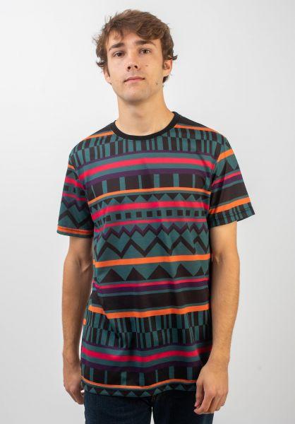 iriedaily T-Shirts Theodore darkteal vorderansicht 0320397