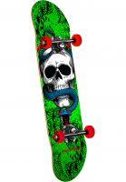 Powell-Peralta Skateboard komplett Skull & Snake one off-green Vorderansicht