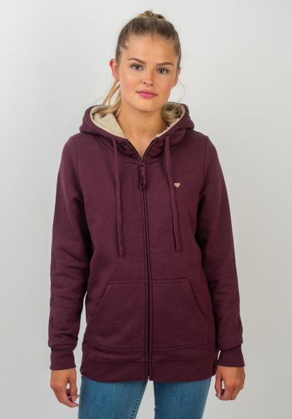 TITUS Zip-Hoodies Bruno Girls darkburgundymottled vorderansicht 0454489