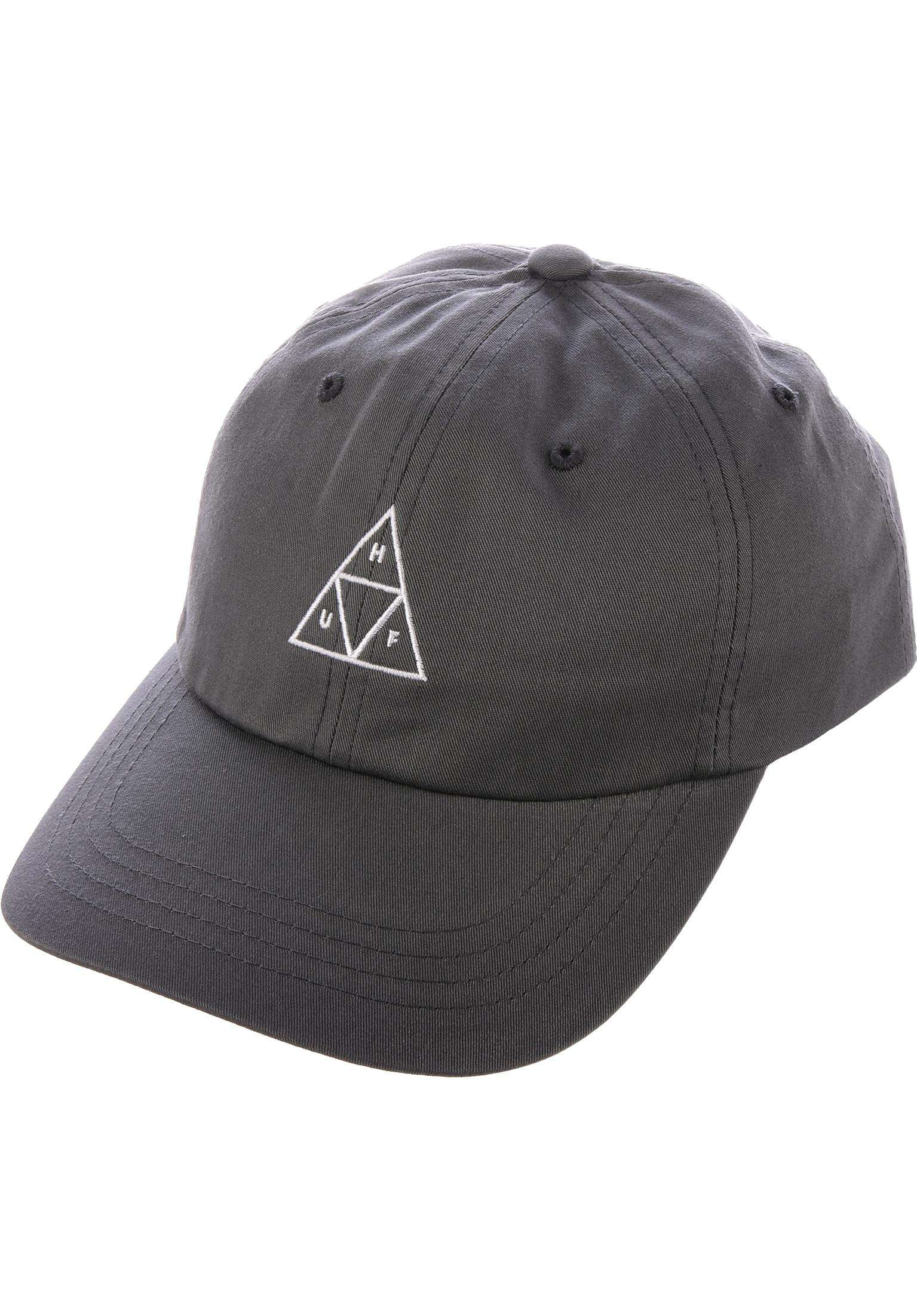 834d1bb5744a5 Triple Triangle Curved Visor Dad Hat HUF Cappellini in charcoal da Uomo