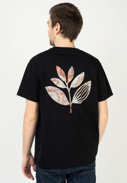 Magenta T-Shirts Plant Map black vorderansicht 0322601