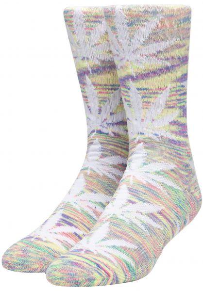 HUF Socken Melange Plantlife Crew plasticpink vorderansicht 0630856