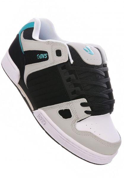 DVS Alle Schuhe Celsius black-charcoal-white-turquoise vorderansicht 0603780
