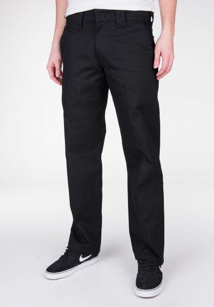 Dickies Chinos und Stoffhosen Cotton Work Pant black Vorderansicht