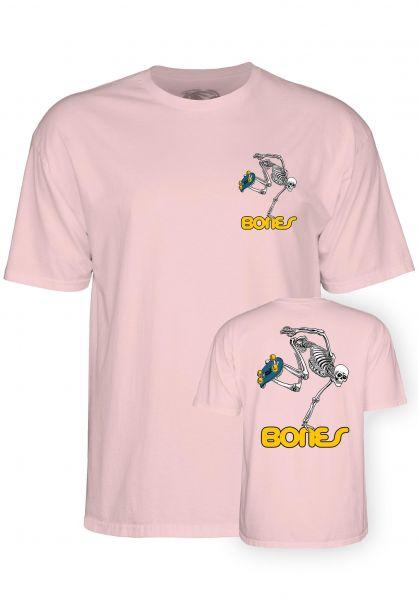 Powell-Peralta T-Shirts Skateboard Skeleton Kids lightpink vorderansicht 0396442
