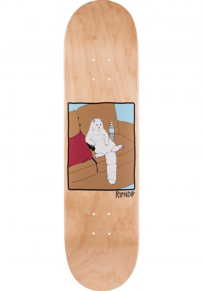 Rip N Dip Skateboard Decks Couch Potato natural Vorderansicht