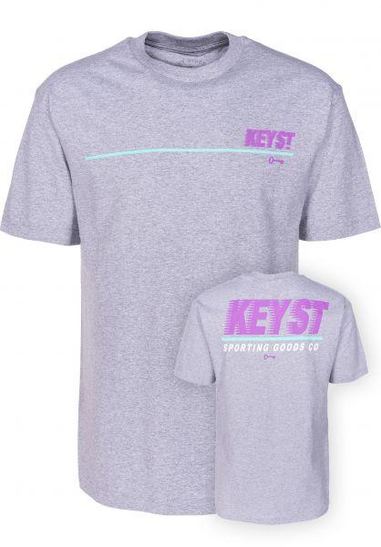 Key Street T-Shirts Sporting Goods heathergrey vorderansicht 0399527