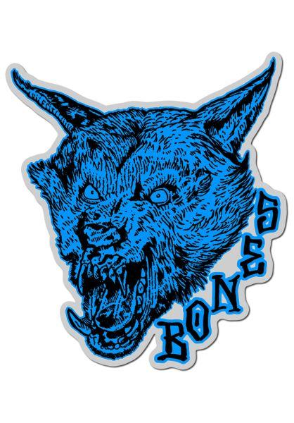 """Bones Wheels Verschiedenes Time Beasts Werewolf 4"""" Sticker blue vorderansicht 0972294"""