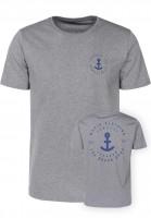 Makia-T-Shirts-Shank-grey-Vorderansicht