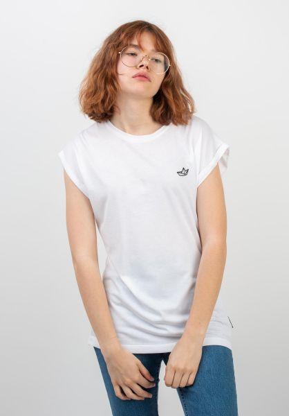 Ezekiel T-Shirts Paperboat white vorderansicht 0398624