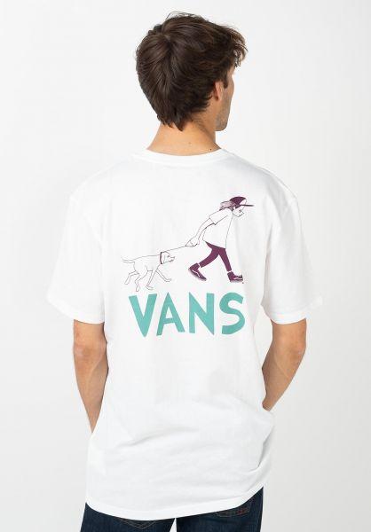 Vans T-Shirts Love Waffle Vintage Overdye Pocket white vorderansicht 0321449