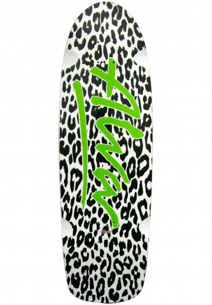 Alva Skateboard Decks White Leopard Re-Issue white-black Vorderansicht