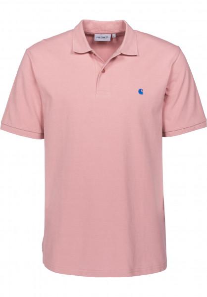 Carhartt WIP T-Shirts Madison softrose-sapphire Vorderansicht