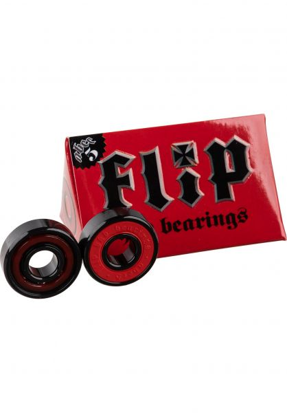 Flip Kugellager HKD Abec 5 black-red Vorderansicht