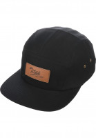 TITUS-Caps-Steve-Leather-5-Panel-black-Vorderansicht