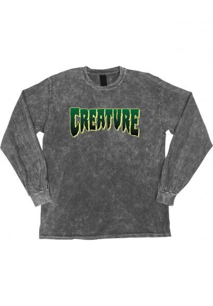 Creature Longsleeves Logo mineralwashgrey vorderansicht 0383715