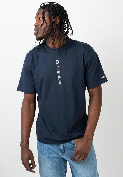Element T-Shirts x Primo Tokyo Yuki indigo vorderansicht 0321337