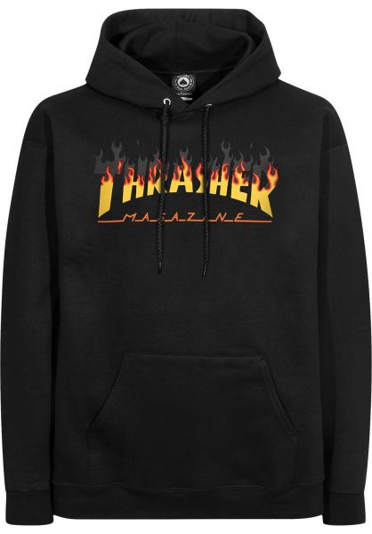 9b2bb1be12b8 Thrasher Hoodies BBQ black vorderansicht 0445101