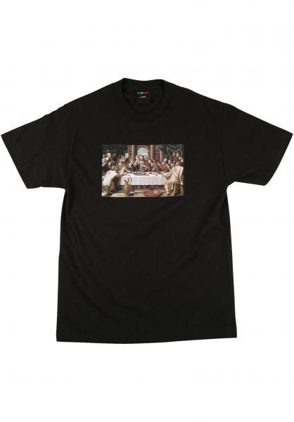 Pizza Skateboards T-Shirts Last Supper black vorderansicht 0322332