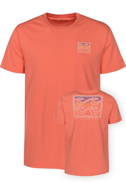 Billabong T-Shirts Crusty coral Vorderansicht