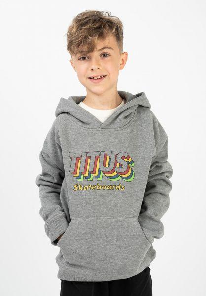 TITUS Hoodies Jefrem Kids greymottled vorderansicht 0422823