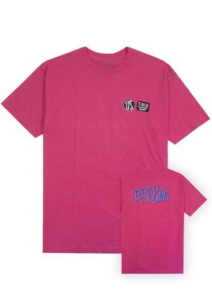 Tired T-Shirts Tired Zone! neon-pink vorderansicht 0320258