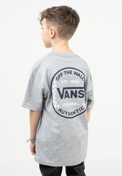 Vans T-Shirts Authentic Checker Kids athleticheather vorderansicht 0323445