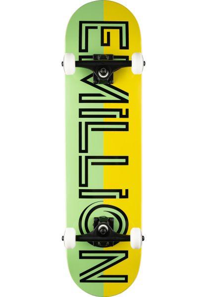 EMillion Skateboard komplett Advert green-yellow vorderansicht 0162614