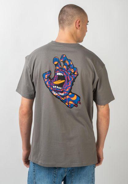 Santa-Cruz T-Shirts Kaleido Hand steel vorderansicht 0320991