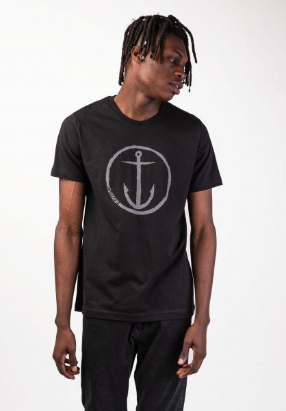 Captain Fin T-Shirts Original Anchor black-charcoal vorderansicht 0397393