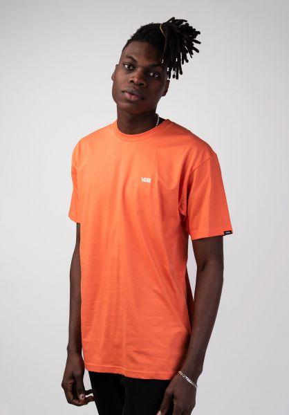 Vans T-Shirts Left Chest Logo emberglow vorderansicht 0397675